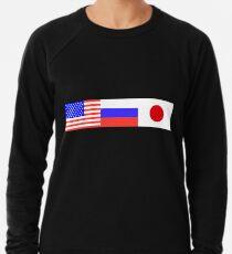 gosha rubchinskiy ГОША РУБЧИНСКИЙ flags usa russia japan Lightweight Sweatshirt