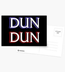 Dun Dun Meme (Law, Order, Parody) Postcards