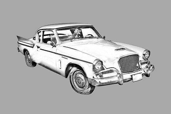 1961 Studebaker Hawk Coupe Illustration By KWJphotoart