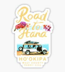 HANA Maui Road to Hana Hawaii Vintage Hawaiian Sticker