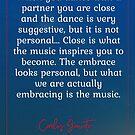 We Are Actually Embracing the Music - Gavito Tango Quote by infinitetango