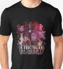 V5 Chicago bei Nacht Kickstarter Slim Fit T-Shirt