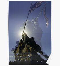 Iwo Jima Memorial - Arlington Virginia Poster