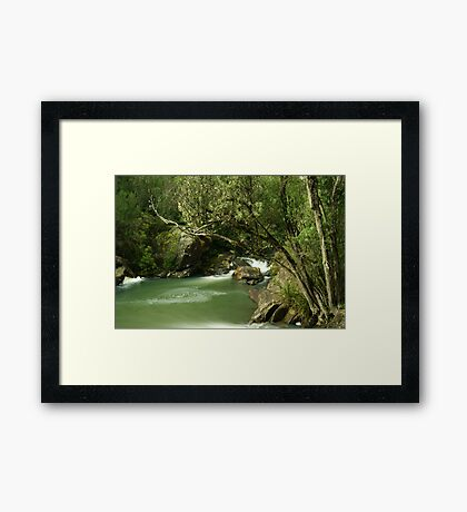 Pipers river swirls... Framed Print