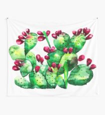 Prickly, Prickly Pear Cactus Wall Tapestry