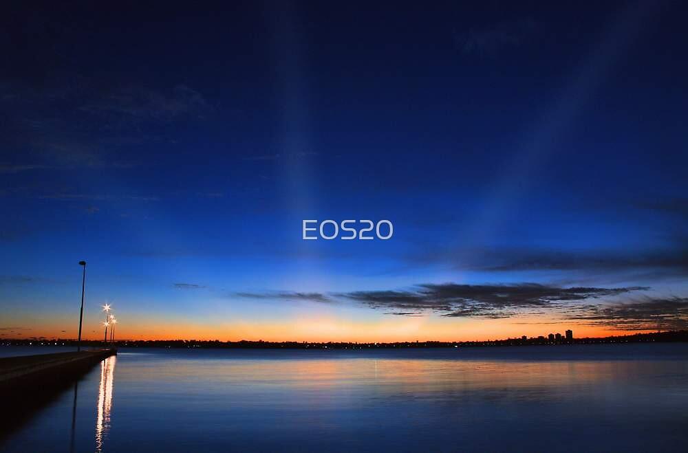 Crepuscular Rays - Como Jetty Western Australia  by EOS20