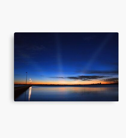 Crepuscular Rays - Como Jetty Western Australia  Canvas Print