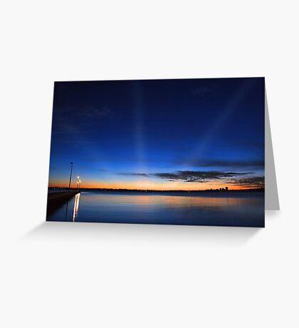 Crepuscular Rays - Como Jetty Western Australia  Greeting Card