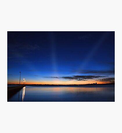 Crepuscular Rays - Como Jetty Western Australia  Photographic Print