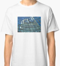 Modern blue glass wall of skyscraper in Buenos Aires, Argentina Classic T-Shirt