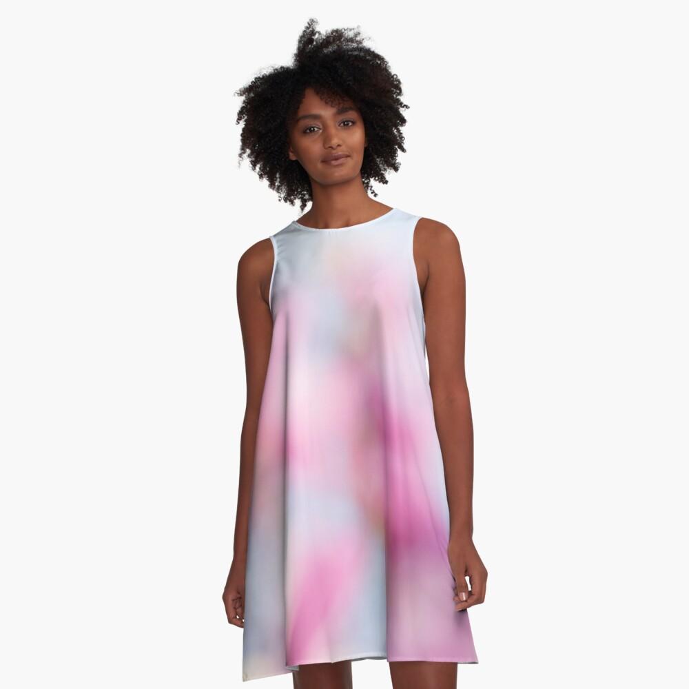 Magenta Magnolia A-Line Dress