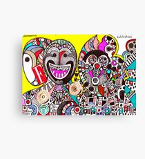 Invasion of Trolls (abstract fantasy drawing) Canvas Print