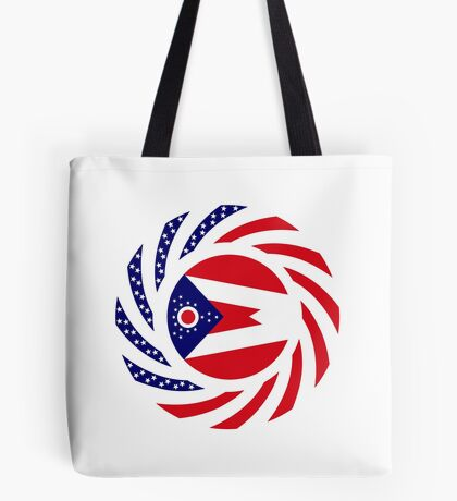 Ohio Murican Patriot Flag Series Tote Bag