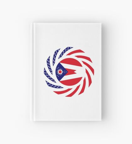 Ohio Murican Patriot Flag Series Hardcover Journal