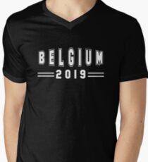 Belgium 2019 Travel Tourism and Natives V-Neck T-Shirt