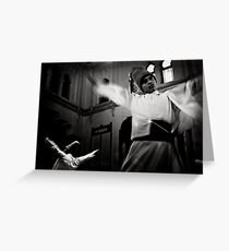 Whirling Dervish dance Greeting Card