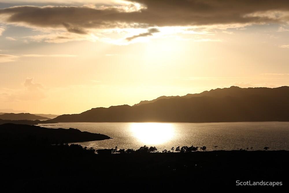 Upper Loch Torridon Evening Light by ScotLandscapes