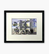 Sci-fi town Framed Print