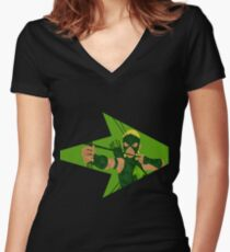 Artemis - Young Justice Women's Fitted V-Neck T-Shirt