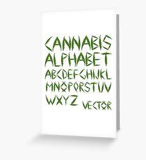 Cannabis leaf alphabet Greeting Card