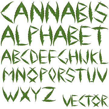Cannabis leaf alphabet by robertosch