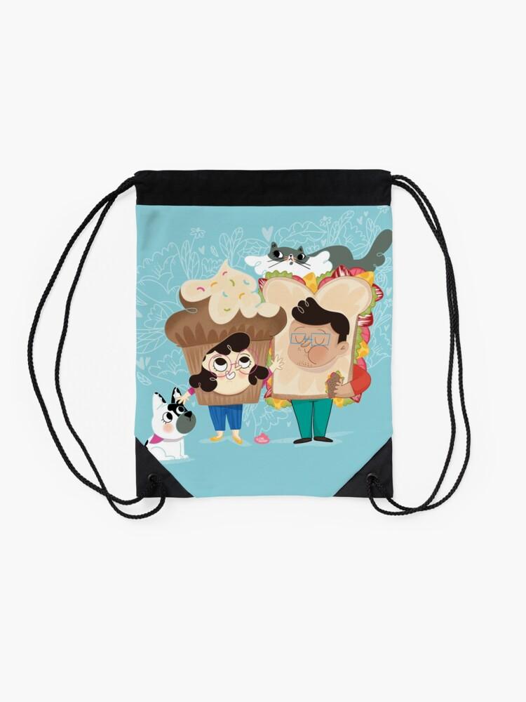 Alternate view of PicNic - Lau Ilustra Drawstring Bag