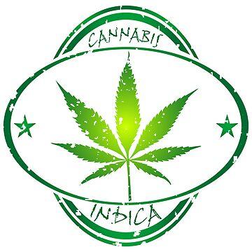Cannabis stamp by robertosch