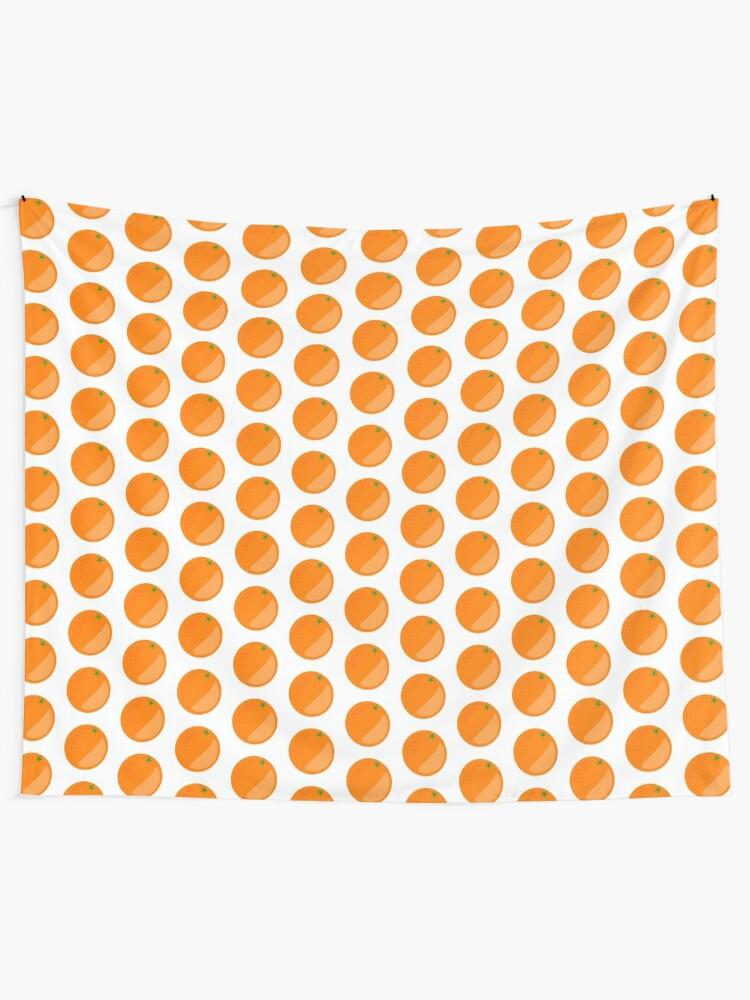 Alternate view of Orange Fruit Tapestry