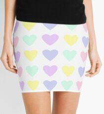 Pastel Hearts Mini Skirt