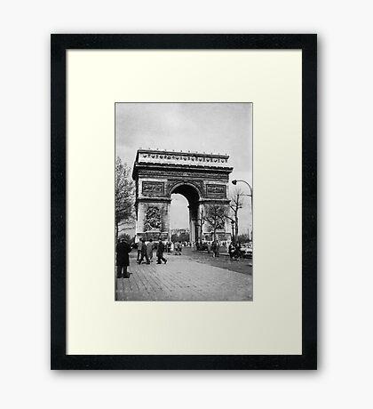 Arc de Triomphe - Paris 1960 Framed Print