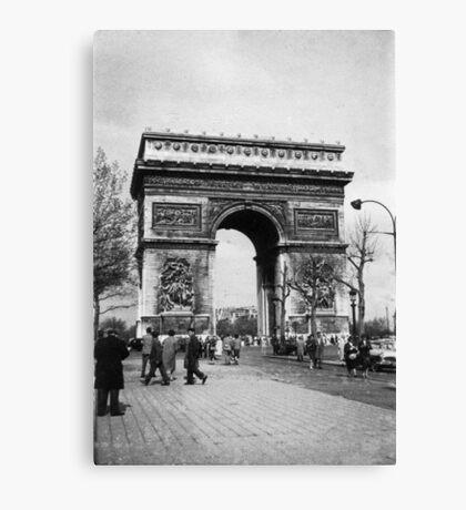 Arc de Triomphe - Paris 1960 Canvas Print
