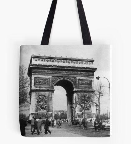 Arc de Triomphe - Paris 1960 Tote Bag