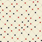 Diamond Mesh - Seamless Repeating Pattern in Navy, Red, and Beige by Autumn Musick