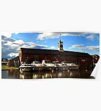 Boats at Stourport Basins Poster