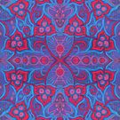 Pink Berries, Bohemian Arabesque Pattern  by clipsocallipso