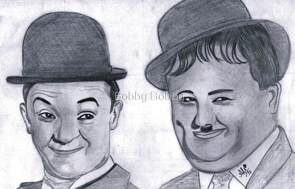 Laurel and Hardy  by Bobby Dar