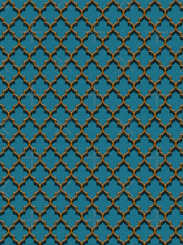 Orange on Blue by SharpTattoos