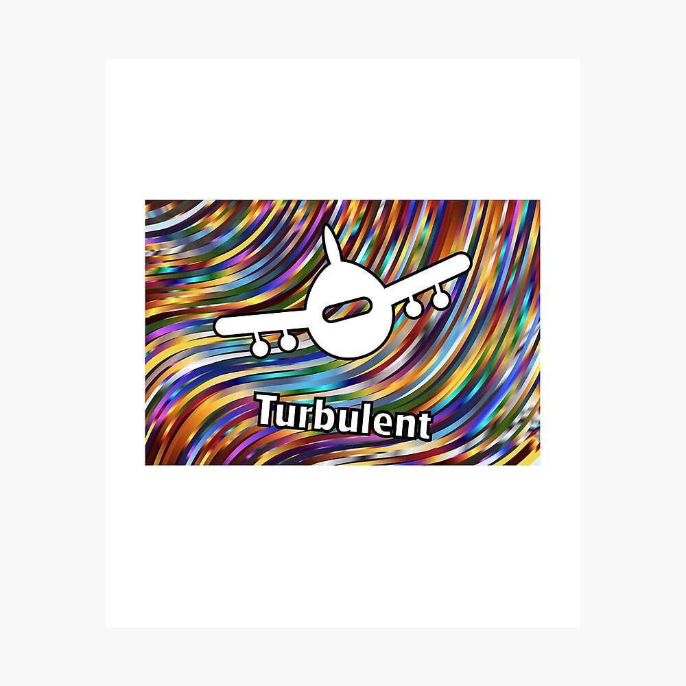 Turbulent Airplane Streaming Lines Color Photographic Print