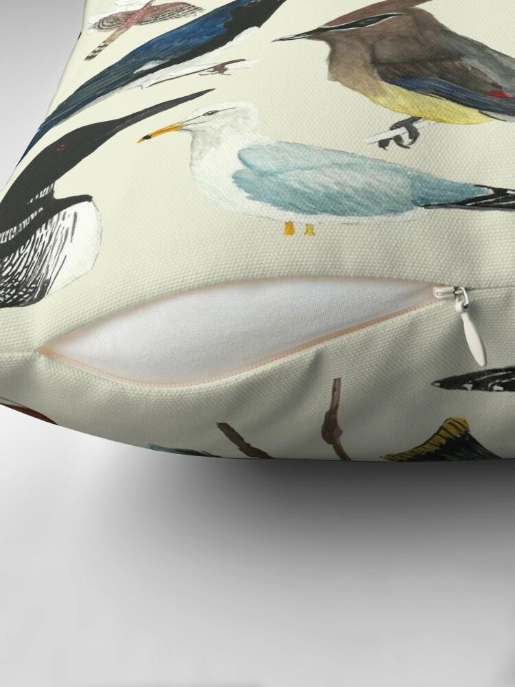 Alternate view of Bird Fanatic Throw Pillow