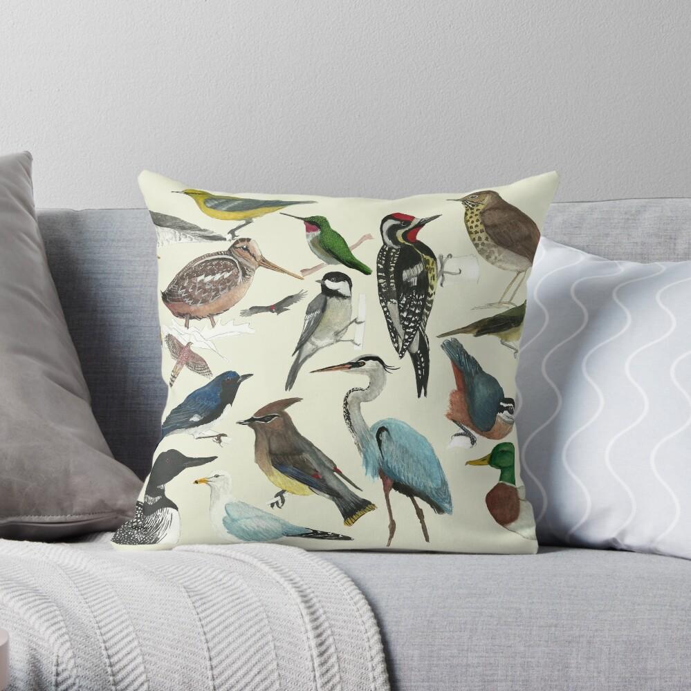 Bird Fanatic Throw Pillow