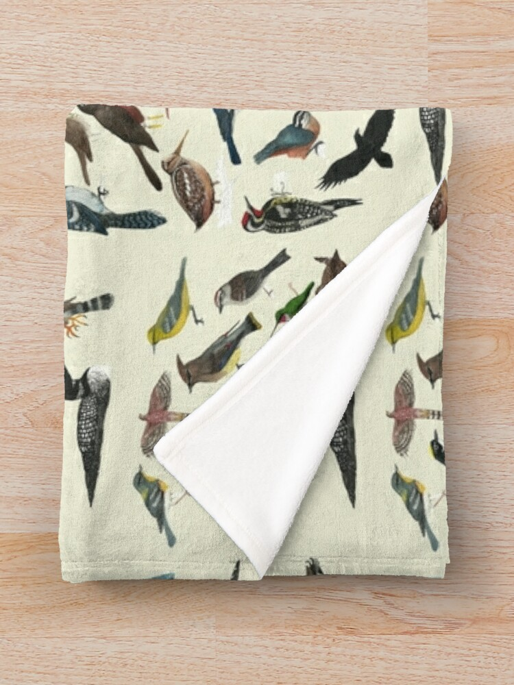 Alternate view of Bird Fanatic Throw Blanket