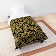 Mother of All Circles Pattern - Gold Black Comforter