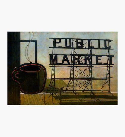 The Perfect View, Public Market, Seattle, WA Photographic Print