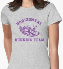 Horizontal Running Team Women's Fitted T-Shirt