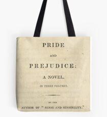 PRIDE and PREJUDICE Novel Cover Tote Bag