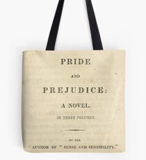 PRIDE and PREJUDICE Novel Cover Tote Bag