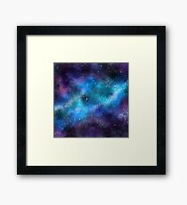 Abstract Space Galaxy Paint Pattern Texture #9 Framed Art Print