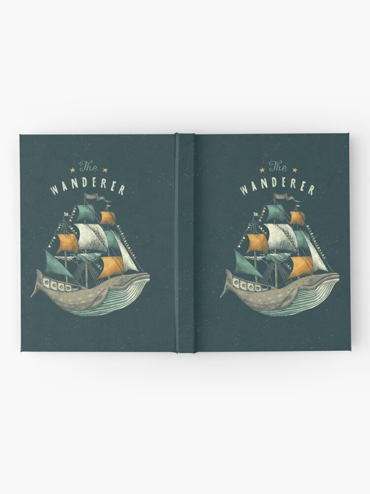 Alternate view of Whale | Petrol Grey Hardcover Journal