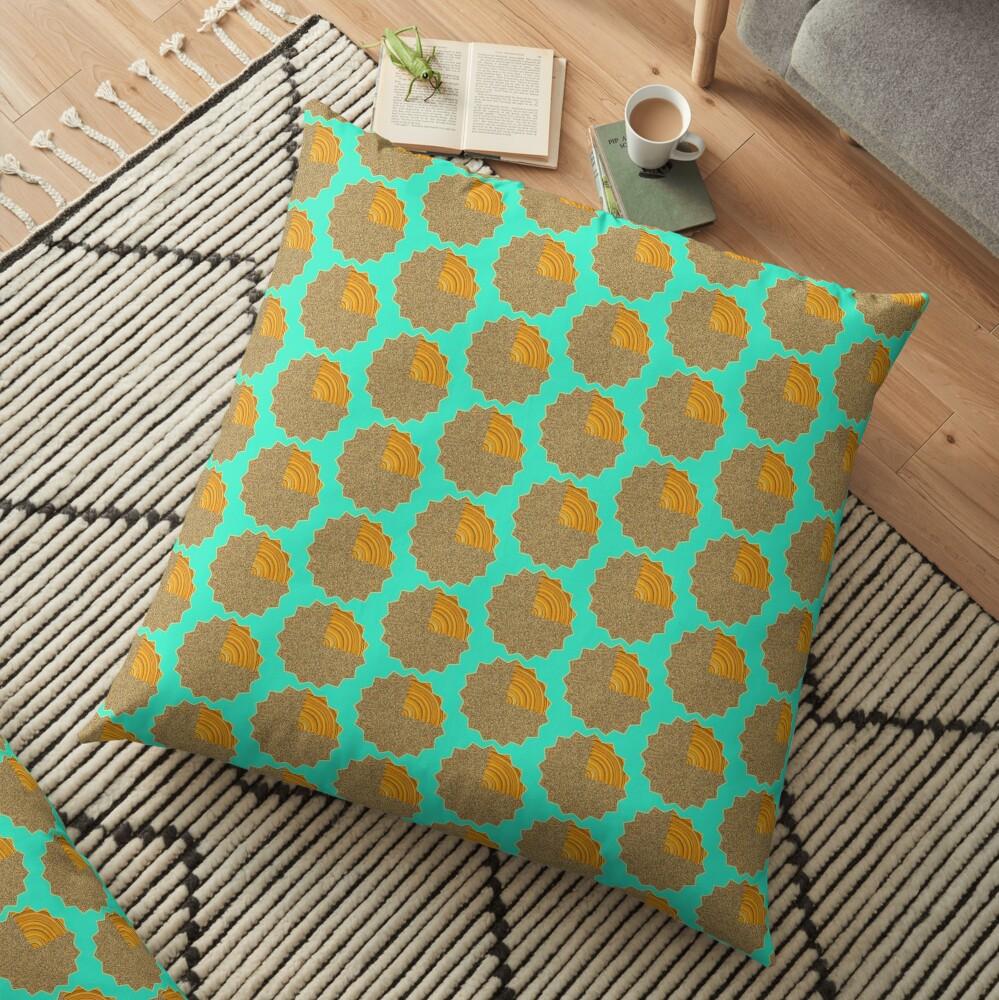Electric Field Art II Repeating  Floor Pillow