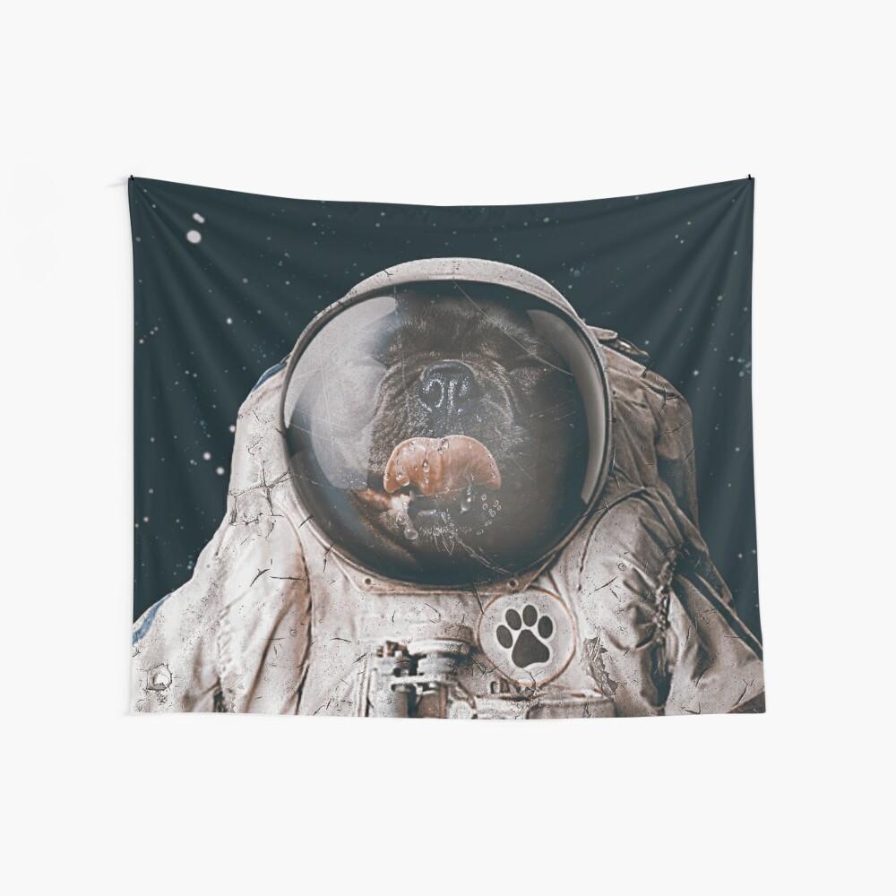 Weltraumhund Wandbehang